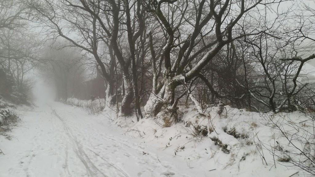 Snow on the High Peak Trail Derbyshire - Copyright Richard Coxon